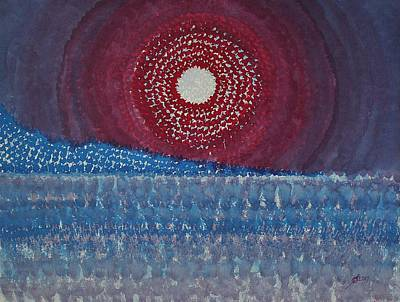 Painting - Mesa Moon Original Painting by Sol Luckman