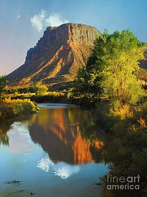 Digital Art - Mesa Over Delores River by Annie Gibbons
