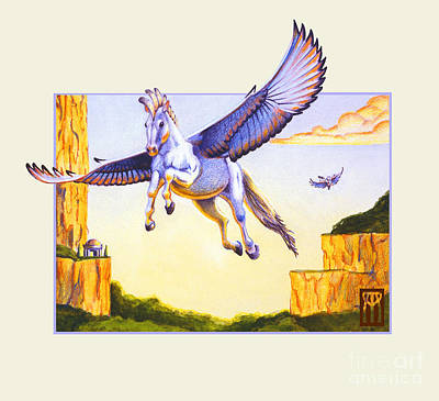 Pegasus Mixed Media - Mesa Pegasus by Melissa A Benson