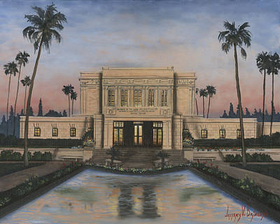 Lds Painting - Mesa Temple by Jeff Brimley
