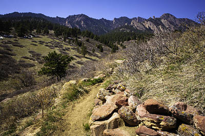 Photograph - Mesa Trail And Flatirons by Marilyn Hunt