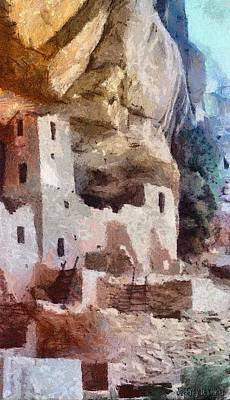 Archaeology Painting - Mesa Verde by Jeff Kolker