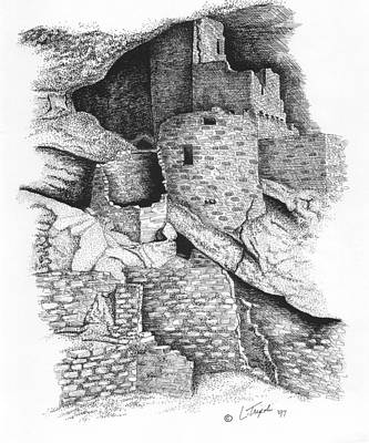 Drawing - Mesa Verde by Lawrence Tripoli