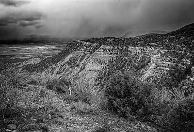 Mellow Yellow Rights Managed Images - Mesa Verde National Park Colorado USA BW Royalty-Free Image by Joan Carroll