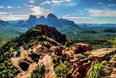 Cathedral Rock Digital Art - Mescal Mountain 04-063 by Scott McAllister