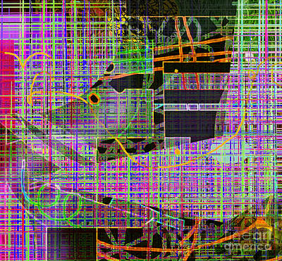 Subway Digital Art - Mesh Iv by Andy  Mercer