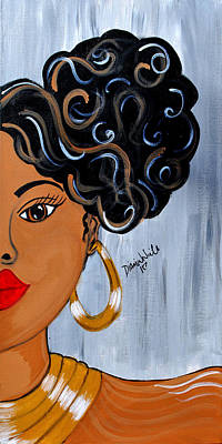 Natural Hair Painting - Mesmerize by Diamin Nicole