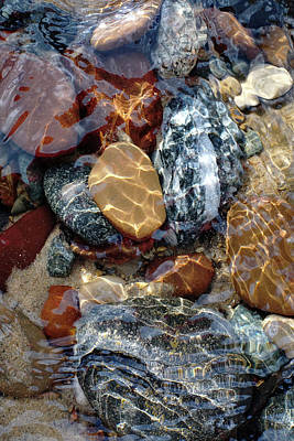 Photograph - Mesmerized By The Creek Stones  by Kathi Mirto