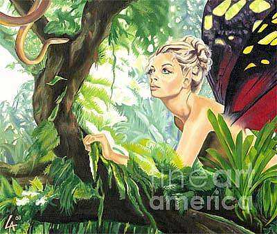 Painting - Mesmerized Faery by Linda Laforge