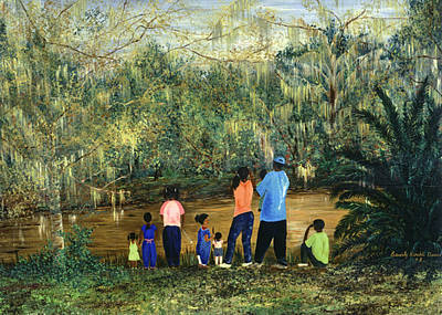 Kimble Painting - Mesmerized In City Park Nola by Beverly Kimble Davis
