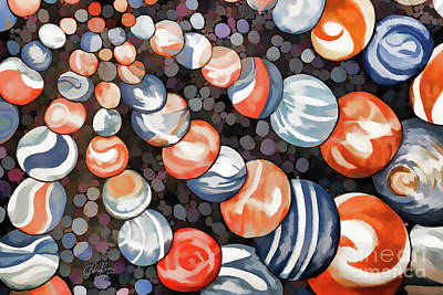 Muted Drawing - Mesmerizing Marbles by Cheryl Rose
