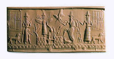 Mesopotamian Gods Print by Photo Researchers