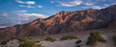 Panamint Valley Photograph - Mesquite Dunes And Panamint Range Death Valley by Steve Gadomski