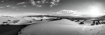 Photograph - Mesquite Dunes Panorama by Larry Pollock