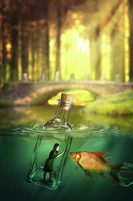 Digital Art - Message In A Bottle by Nathan Wright