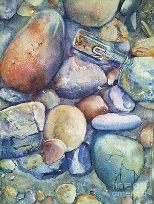 Message In A Bottle Original by Patricia Pushaw