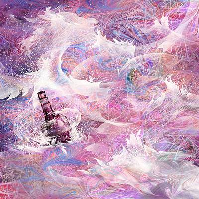 Hope Digital Art - Message In A Bottle by Rachel Christine Nowicki