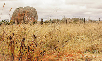 Photograph - Message On A Rock, Rural Australia by Lexa Harpell