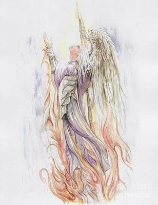 Angel Art Painting - Messenger by Morgan Fitzsimons