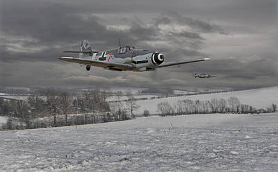 Winter Landscapes Photograph - Messerschmitt Bf 109 G - Gustav by Pat Speirs