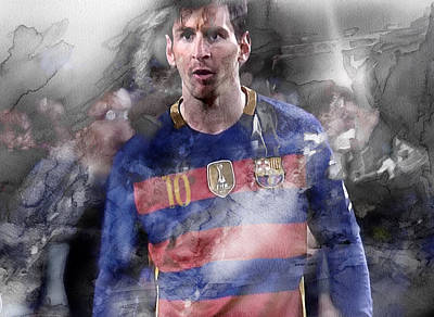 Messi Painting - Messi 27777 by Jani Heinonen