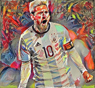 Soccer Digital Art - Messi by ArtMarketJapan