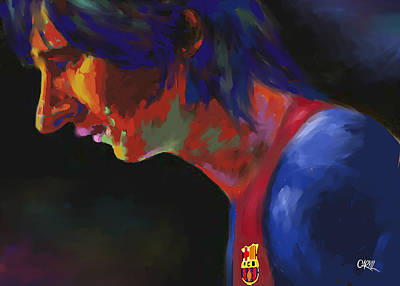 Messi Art Print by Carvil