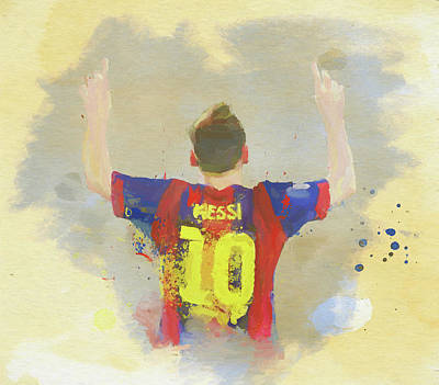 Painting - Messi by Dan Sproul