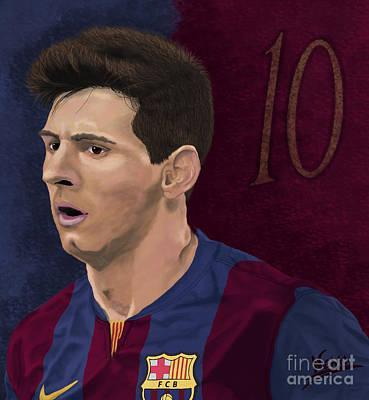 Messi-digital Oil Painting  Art Print by Nenad Arsikj