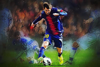 Messi Digital Art - Messi by Semih Yurdabak