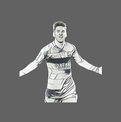 Cristiano Ronaldo Drawing - Messi by Vincenzo Basile