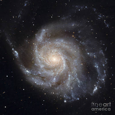 Radiant Image Photograph - Messier 101, The Pinwheel Galaxy by Stocktrek Images