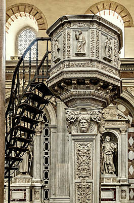 Photograph - Messina Cathdral Pulpit by Maria Coulson