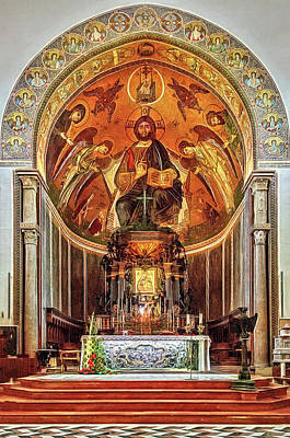 Photograph - Messina's Cathedral Altar by Maria Coulson
