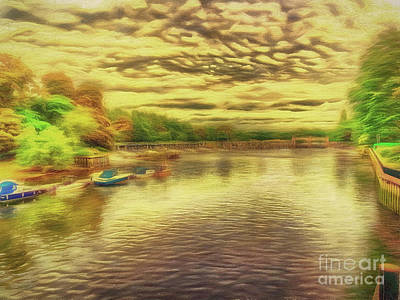 Digital Art - Messing About On The River by Leigh Kemp