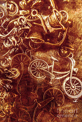 Metal Art Photograph - Messy Bike Workshop by Jorgo Photography - Wall Art Gallery