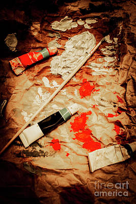 Splatter Photograph - Messy Painters Palette by Jorgo Photography - Wall Art Gallery