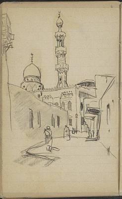 Marius Painting - met uitzicht op de Al-Rifai moskee by MotionAge Designs