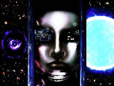 Tron Painting - Meta #8 by Ron Matzov