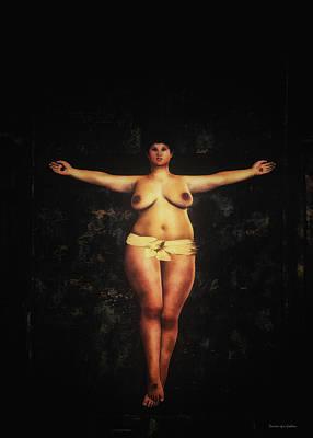 Fat Woman Digital Art - Metabolic Crucifixion by Ramon Martinez