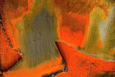 Photograph - Metal Abstract Three by David Waldrop