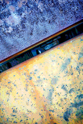 Photograph - Metal Abstraction by Ann Powell