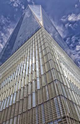 Metal And Glass Highrise Office Building Art Print by Robert Ullmann