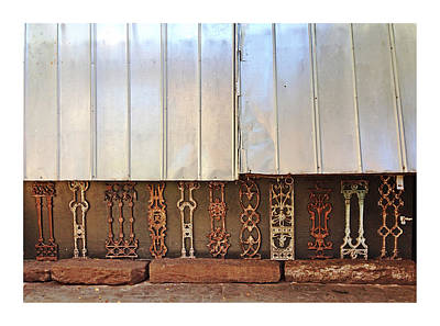Photograph - Metal And Ironwork With White Border by Pat Exum