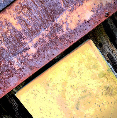 Photograph - Metal And Rust Abstract by Ann Powell