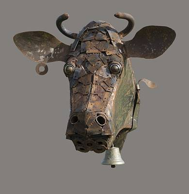 Photograph - Metal Art Cow II by Paul DeRocker