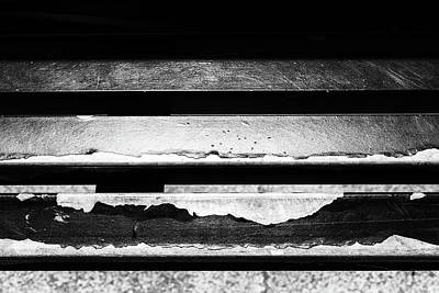 Photograph - Metal Beams Of Broken Paint Monochrome by John Williams