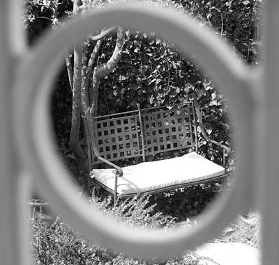 Photograph - Metal Bench In Sedona by Claudia Goodell