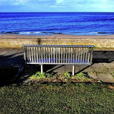 Photograph - Metal Bench by Nik Watt