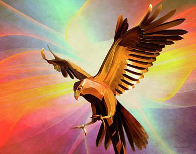 Digital Art - Metal Bird 1 Of 4 by Walter Herrit
